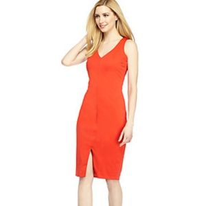 The Limited Red Taylor V Neck Sheath Dress